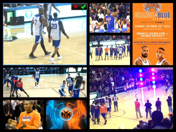 AMARIAH COLLAGE KNICKS GAME